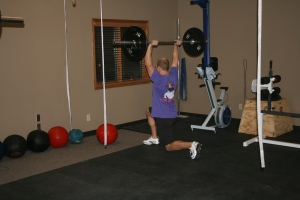 David working hard in his second WOD ever!