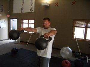 Nick is BEAST with the Kettlebells:-)