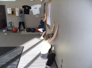 Wall Squats.....How's this for flexibility?